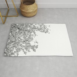 Cherry Blossoms (Black and White) Rug