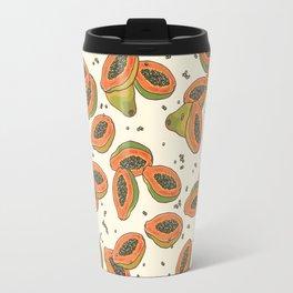 papaya pattern Travel Mug
