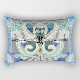 The Edge of Beauty Rococo Abstract Rectangular Pillow
