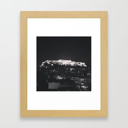 Akropoli - When in Athens  Framed Art Print