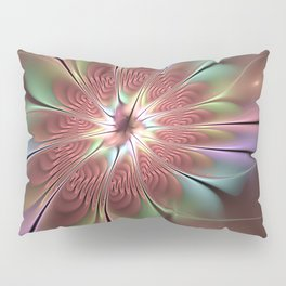 Abstract Fantasy Flower, Fractal Art Pillow Sham