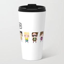The Big Bang Theory Pixel Characters Travel Mug