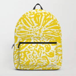 Gen Z Yellow Marigold Lino Cut Backpack