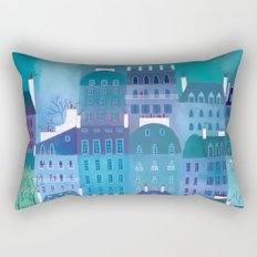 Paris Blues Rectangular Pillow
