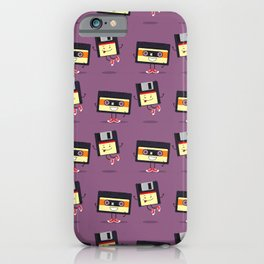 Floppy disk and cassette tape iPhone Case