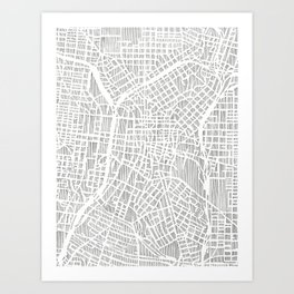 san antonio map print Art Print