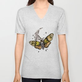 Death Moon Moth Unisex V-Neck