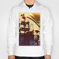 pirate ship Hoodies featuring pirate ship by Ancello