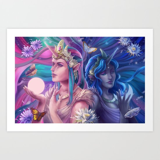 Day and Night Art Print