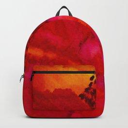 watercolor flower Backpack