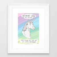 penis Framed Art Prints featuring Unicorn, Penis horn by Bluh