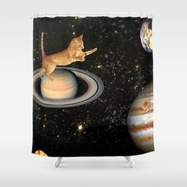 Cat.In.Space. Shower Curtain