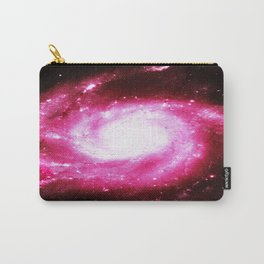 Galaxy Hot Pink Spiral Carry-All Pouch
