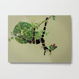 Mono araña Metal Print