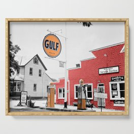 Vintage Gulf Oil Station Serving Tray
