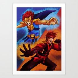 Ninjago and Chima Art Print