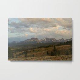 Sawtooth Mountains Metal Print