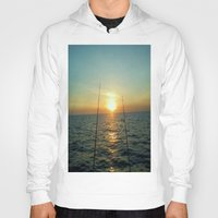 fishing Hoodies featuring FISHING by aztosaha