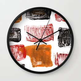 Licorice abstract watercolor Wall Clock