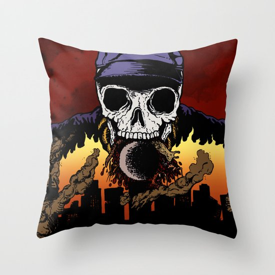 """""""Hip Hop Horror"""" by Cap Blackard Throw Pillow"""