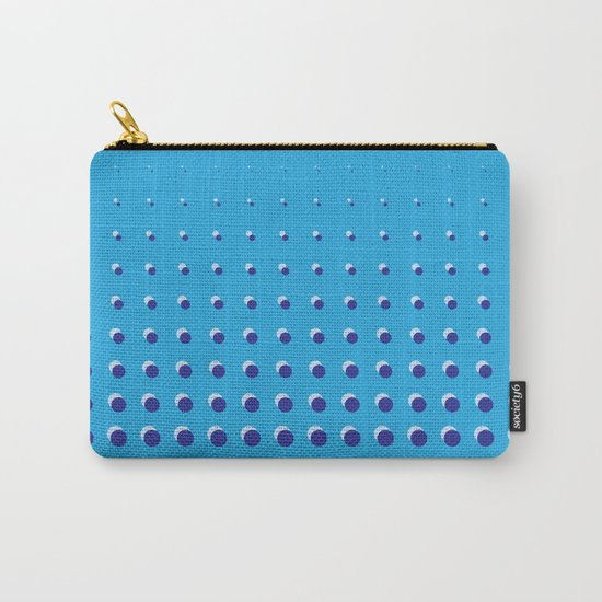 Blue on blue grid - Optical game 14 Carry-All Pouch