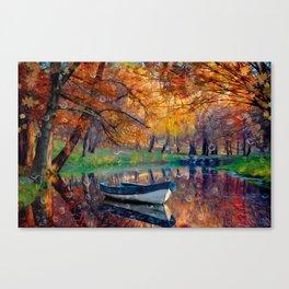 Аutumn drops Canvas Print