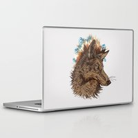 coyote Laptop & iPad Skins featuring coyote by youareconstance