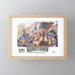 Dinosaur Market Framed Mini Art Print