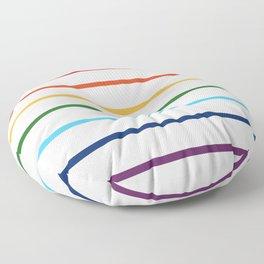 thin lines rainbow Floor Pillow