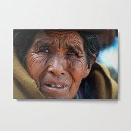 Woman in Copacabana, Bolivia Metal Print