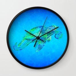 Sea Turtle Graphic Wall Clock