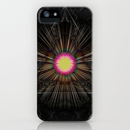 Triangle of light. iPhone Case