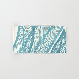 Blue Banana Leaf / Tropical Plants Hand & Bath Towel