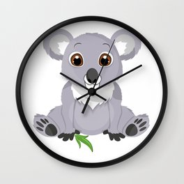 Cute Little Koala Bear Wall Clock