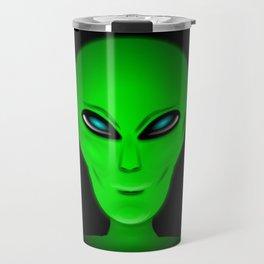 Green Alien Head Travel Mug