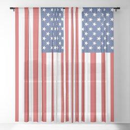 American Flag Sheer Curtain