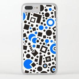 Black versus Blue Clear iPhone Case