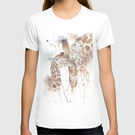 "Watercolor Painting of Picture ""Mother and Son"" T-shirt"
