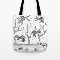 underwater Tote Bags featuring Underwater by Condor