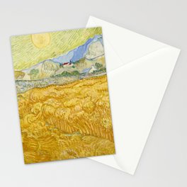 """Vincent van Gogh """"Wheat Field behind Saint Paul Hospital with a Reaper"""" Stationery Cards"""