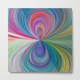 351 - Abstract Colour Design Metal Print