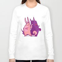 gengar Long Sleeve T-shirts featuring Clefable and Gengar by Ida Dobnik