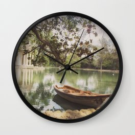 Another afternoon in Villa Borghese Wall Clock