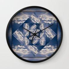 Meditational Clouds Mandala Wall Clock