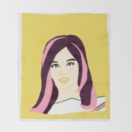 Knock Knock! Sana Yellow Throw Blanket
