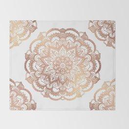 Mandala Rose-Gold Shine Throw Blanket
