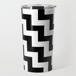 White and Black Steps LTR Travel Mug