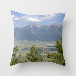 Not Far Now - Mountain Range View Throw Pillow