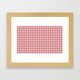 Classic red plaid Framed Art Print