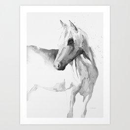 Palomino in Grayscale Art Print